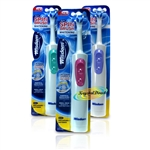 3x Wisdom BATTERY Adult Toothbrush