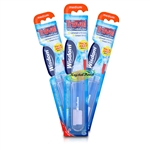 3x Wisdom Folding Portable Compact Travel Medium Toothbrush Ideal For Holidays