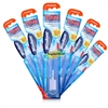 6x Wisdom Folding Portable Compact Travel Medium Toothbrush Ideal For Holidays