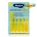 Wisdom Interdental Brushes Oral Care Yellow 0.7mm Fine Removes Plaque