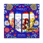Yardley Body Spray Collection Gift Set