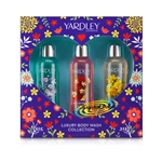 Yardley Luxury Body Wash Collection Xmas Gift Set