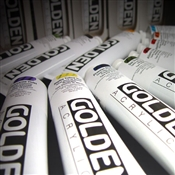 Golden Heavy Body Acrylic Tubes Image