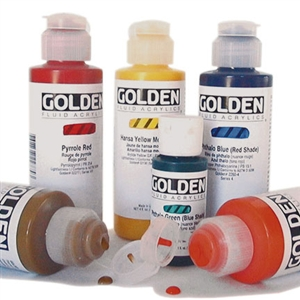 Golden Fluid Acrylics 1oz and 4oz Image