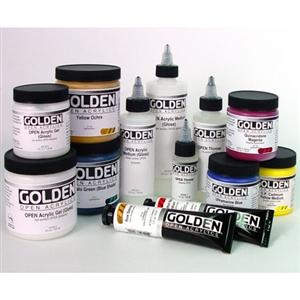 Golden OPEN Acrylic Jars Image