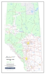 Alberta Provincial Base Map Poster