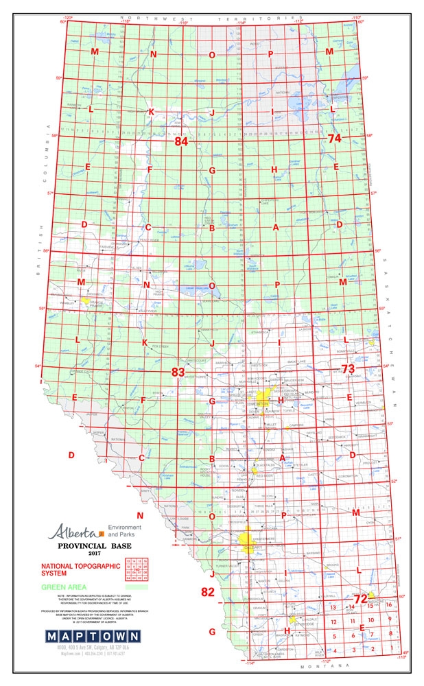 Alberta Township Map Alberta Provincial Base Map Poster NTS Alberta Township Map