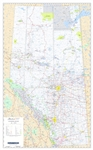 Alberta Provincial Base Wall Map 1:1,000,000. This current map of Alberta shows primary and secondary highways,both paved and unpaved, Railroads, Lakes, Rivers, Cities, Towns, Villages, Airports, Provincial - National and Wildland Parks, Forest Reserves,