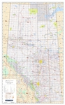 Alberta NTS Provincial Base Wall Map 1:1,000,000. This NTS version also shows the National Topographic Survey grid, so that you can easily identify the locations of the 1:250,000 and 1:50,000 base maps at a glance. This map also shows show primary and sec