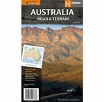 Australia Terrain and Road Map is the only map of Australia showing comprehensive road detail and road distances as well as contour shading. The road detail comes from the award-winning Hema Australia Map and the hill shading is hand drawn from a digital