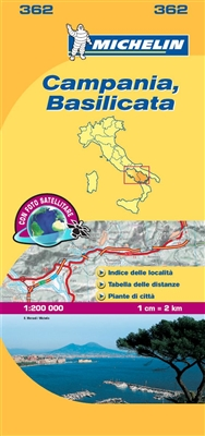 Campania Basilicata Italy Travel & Road Map. The MICHELIN Campania local map, scale 1:200 000 is the ideal companion to fully explore this Italian region and provides star-rated Michelin tourist itineraries and attractions, as well as impressive 3D relief