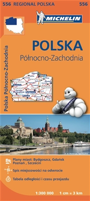 Poland North West MICHELIN Poland North West Regional Map scale 1/300,000 will provide you with an extensive coverage of primary, secondary and scenic routes for this region. In addition to Michelin's clear and accurate mapping, this regional map include