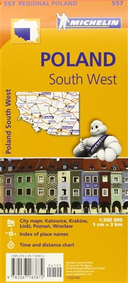 MICHELIN Southwest Poland Regional travel and road map. This map will provide you with an extensive coverage of primary, secondary and scenic routes for this region. In addition to Michelin's clear and accurate mapping, this regional map includes all the