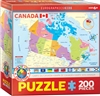 "Map of Canada Kids Puzzle 200 Pieces. Finished size: 13"" x 19"". Discover the vast majestic lands of the Canadian provinces with this colorful and educational Map of Canada. Color coded with capitals and flags. Strong high-quality puzzle pieces. Made from"