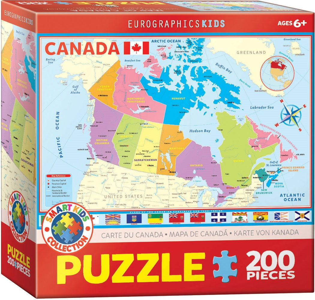Map Of Canada Puzzle.Map Of Canada Kids Puzzle