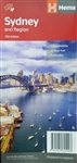 Sydney & Region Travel & Road Map. Sydney and Region Hema Map shows the greater Sydney region 1:100,000 on one side and a lower scale overview map of the city and surrounding regions on the reverse. Also included are maps of the Sydney central business di