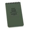 "Rite in the Rain - Pocket Top Spiral Green 3x5. The global standard for tactical waterproof colored notebooks. Protect yourself and your notes by using Rite in the Rain Tactical Pocket Notebooks. These 3"" x 5"" top spiral notebooks have 100 Universal pages"