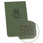 Waterproof Top Bound Memo Notebook Green 3x5. Field Flex is our most flexible cover material. The paper-based stock is tough enough to withstand the harshest and wettest conditions yet can be torn like heavy paper. As it is paper-based, it can be recycled