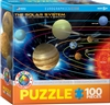 "The Solar System 100 Piece puzzle. Finished size 13"" x 19"". Kids will love playing with this educative jigsaw puzzle presenting the planets of our solar system. Strong high-quality puzzle pieces. Made from recycled board and printed with vegetable based i"