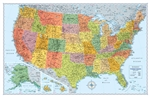 United States Wall Map Signature Edition Rand McNally. Updated and redesigned, Rand McNally's Signature United States wall map features eye-catching bold and vivid colors that make this the perfect reference piece sure to stand out in any home, classroom