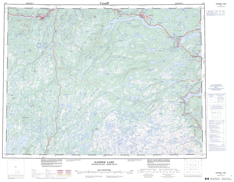 Gander Canada Map.002d Gander Lake Topographic Map