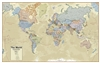 Executive Boardroom World Wall Map - laminated. This world map has each country in a different color, has lots of detail and contains great detail including the capitals and populations of different countries. This map comes laminated and measures 38 inch