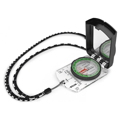 SILVA Compass Ranger S for night use. Silva Ranger S features DryFlex grip for easy handling and comes with a use anywhere declination scale inside the capsule. A base plate map measuring in mm and scales of 1:50k and 1:25k. Ranger S has the additional be