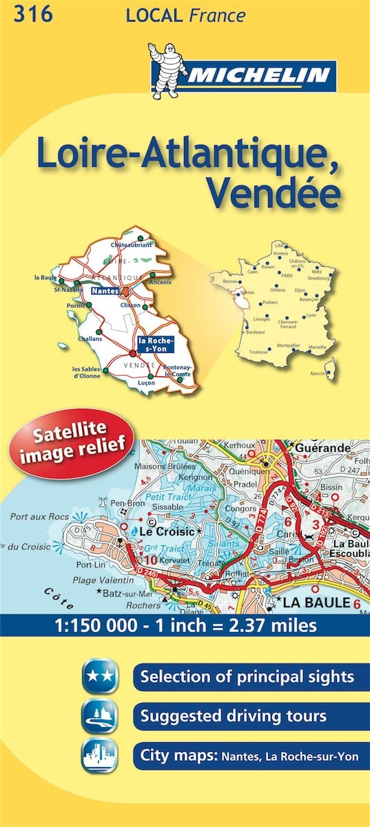 Map Of France Vendee.316 France Loire Atlantique Vendee