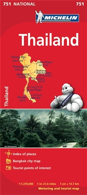 Thailand Travel & Road Map. Includes a city map of Bangkok. Updated regularly, MICHELIN National Map Thailand will give you an overall picture of your journey thanks to its clear and accurate mapping scale 1:1,370,000. Our map will help you easily plan yo