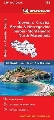 Slovenia, Croatia, Bosnia & Herzegovina, Serbia, Montenegro & the Yug. Republic of Macedonia travel map. Updated regularly, MICHELIN National Map Slovenia, Croatia, Bosnia will give you an overall picture of your journey thanks to its clear and accurate m