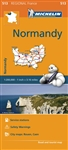 Normandy France travel & road map by Michelin. This map will provide you with an extensive coverage of primary, secondary and scenic routes for this French region. Includes city maps of Rouen and Caen. In addition to Michelin's clear and accurate mapping,