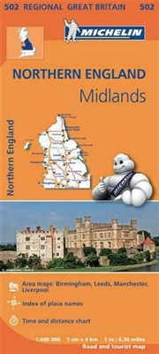 MICHELIN Northern England and Midlands regional travel and road map. Includes Birmingham, Leeds, Liverpool and Manchester city maps. This map will provide you with an extensive coverage of primary, secondary and scenic routes for this region. In addition