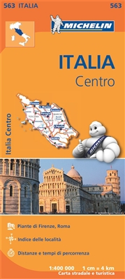 Central Italy travel & road map by Michelin. MICHELIN Italy Centre Regional Map scale 1:400,000 will provide you with an extensive coverage of primary, secondary and scenic routes for this region. In addition to Michelins clear and accurate mapping, this