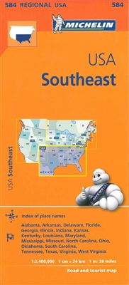 SE USA travel and road map by Michelin. MICHELIN Southeastern USA regional travel and road map.This map will provide you with an extensive coverage of primary, secondary and scenic routes for this region. Includes places such as Washington DC, Miami, Dall