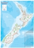 New Zealand - Large Wall Map. This map is very detailed and includes an index for towns and places. Nice coloring with a decorative border. Did you know that Aotearoa is the Maori name for New Zealand?