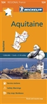 France - Aquitaine Michelin Map scale 1/200,000 will provide you with an extensive coverage of primary, secondary and scenic routes for this French region. In addition to Michelin's clear and accurate mapping, this regional map includes all the practical