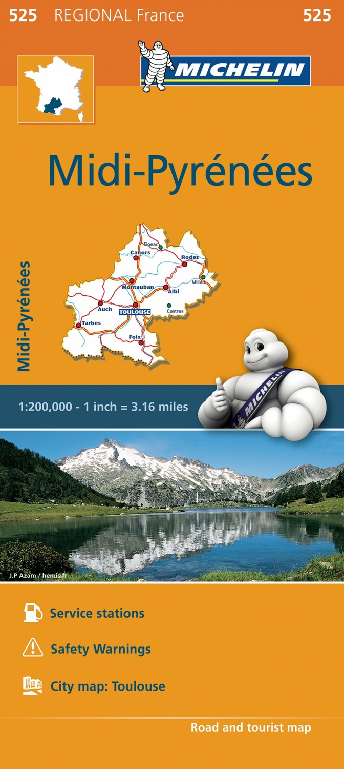 Clear Map Of France.Midi Pyrenees France Travel Road Map