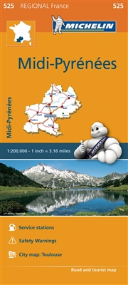 Midi-Pyrenees France travel & road map. MICHELIN Midi-Pyrenees Regional Map scale 1:200,000 will provide you with an extensive coverage of primary, secondary and scenic routes. In addition to Michelins clear and accurate mapping, this regional map include