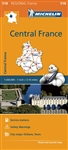 Central France Travel & Road map. MICHELIN Centre Regional Map scale 1:200,000 will provide you with an extensive coverage of primary, secondary and scenic routes for this French region. In addition to Michelin's clear and accurate mapping, this regional
