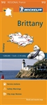Bretagne - Brittany France travel & road map. This map will provide you with an extensive coverage of primary, secondary and scenic routes of Brittany. Includes a city map of Rennes. In addition to Michelin's clear and accurate mapping, this regional map