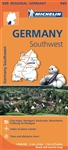 SW Germany Travel Map. MICHELIN Germany Southwest Regional Map scale 1:300,000 will provide you with an extensive coverage of primary, secondary and scenic routes for this region. In addition to Michelin's clear and accurate mapping, this regional map inc