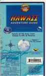 Big Island of Hawaii - Waterproof Travel & Guide Map. This map provides detailed tourist information such as beaches and hiking trails on Hawaii's Big Island. There are detailed insets of the Kona Coast, Kilauea, Hilo, as well as a detailed view of downto