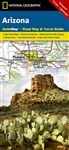 Arizona National Geographic State Guide Map. The front side is an easy to read road map with insets of: Bullhead, City of Laughlin, Yum, Flagstaff, Tucson, Downtown Phoenix, Saguaro National Park, Petrified Forest National Park. The reverse includes maps