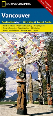 Vancouver National Geographic Destination City Map