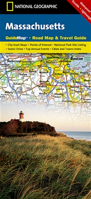 Massachusetts National Geographic State Guide Map