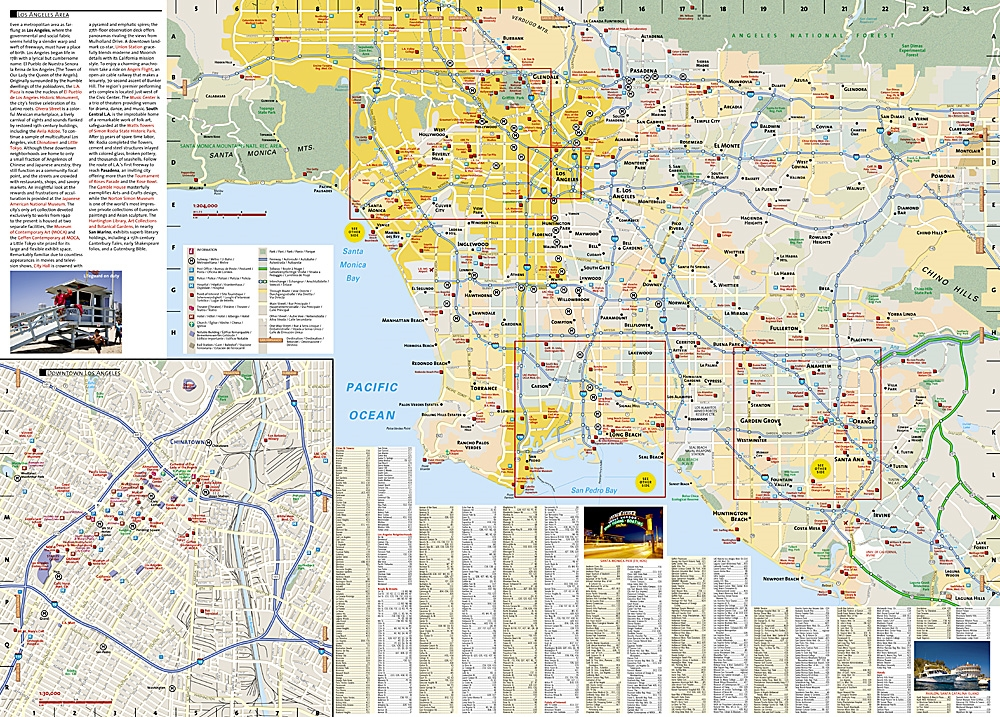 Los Angeles National Geographic Destination City Map on