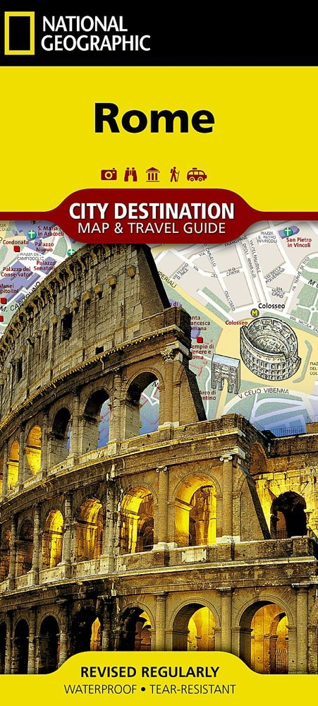 Rome Italy City Map And Travel Guide By National
