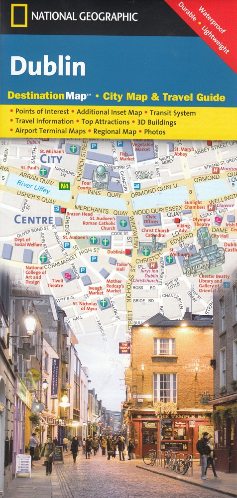 Maps Dublin.Dublin National Geographic Destination City Map