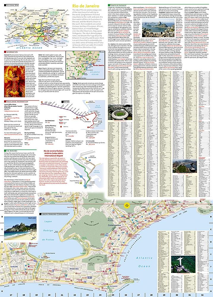 Rio de Janeiro National Geographic Destination City Map