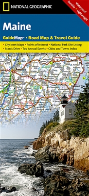 Maine National Geographic State Guide Map